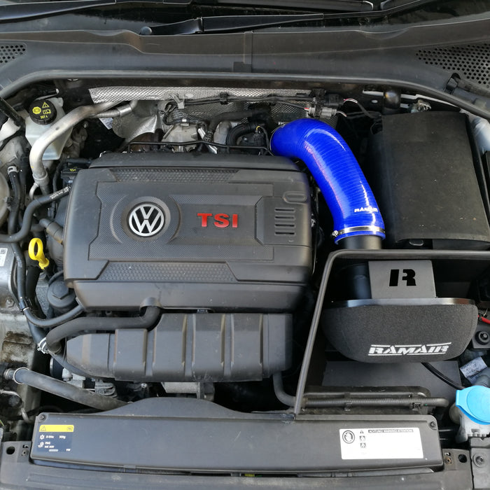 Ramair Air Filter & Heat Shield Induction Kit – Blue Intake Hose – VW MK7 Golf GTI & R, Audi A3, S3 8V, Seat Leon Cupra 280 & Skoda Octavia RS