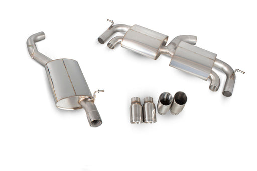 Scorpion VW Golf MK7 R 2.0L (14-16) Resonated Cat-Back Exhaust with No Valves- Polished Quad Daytona Tips – SVW044D - Diversion Stores Car Parts And Modificaions