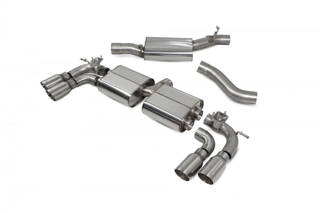 Scorpion Exhaust Valved Resonated Daytona Tips Volkswagen MK7.5 Golf R (facelift) Non GPF Model - SVW054D