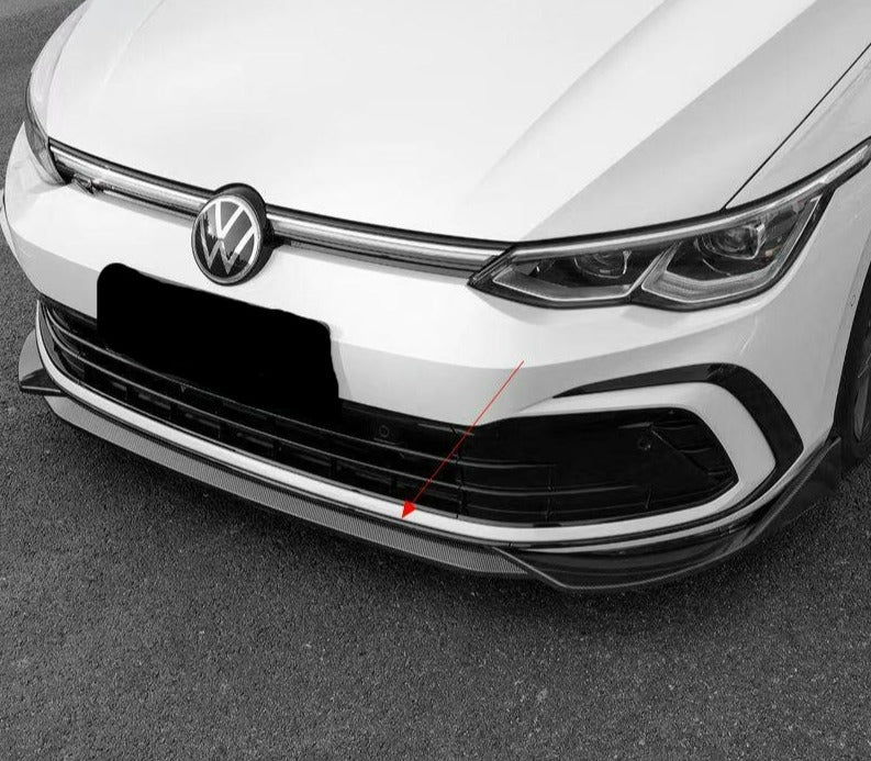 Volkswagen Golf MK8 Gloss Black / Carbon Look Front Splitter (2020+ Models)