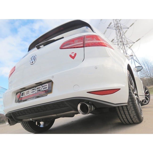 Cobra Sport GTI Style Rear Section Exhaust – Golf Mk7 GTD (SOUND PACK OPTION ONLY) – VW29 - Diversion Stores Car Parts And Modificaions