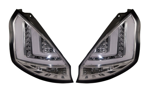 159 - Ford Fiesta MK7.5 LED Custom Tail Lights (2013-2017) CLEAR - Diversion Stores Car Parts And Modificaions