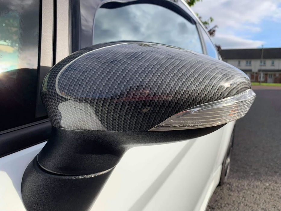 134 - Ford Fiesta MK7/7.5 Carbon Fibre Look Gloss Wing Mirror Backs (2009-2017 Models) - Diversion Stores Car Parts And Modificaions