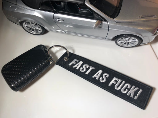 *FAST AS F#%K* Fabric Keyring Accessory - Diversion Stores Car Parts And Modificaions