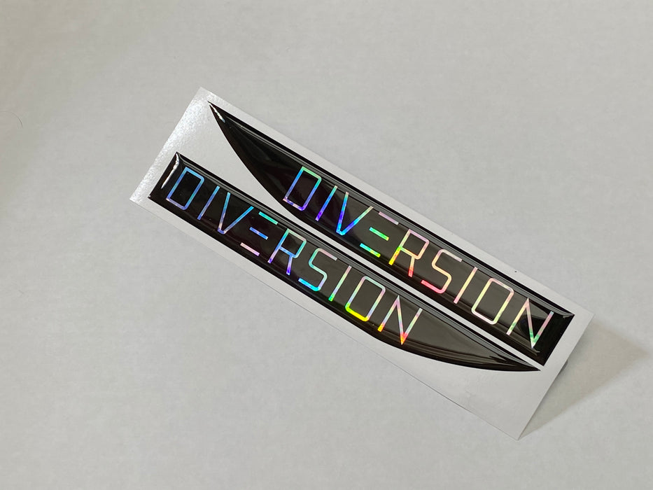 Volkswagen Style 'DIVERSION' Oil Slick / Black Side Repeater Gel Badges