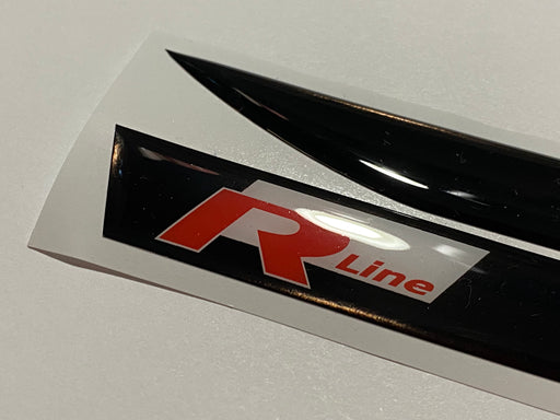 "Volkswagen ""R Line"" Logo Side Repeater Gel Badges (Red / White / Black) - DIVERSION"