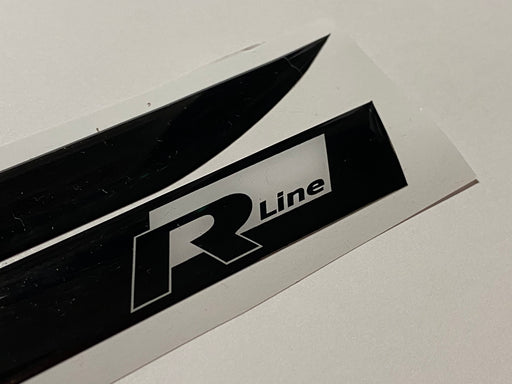 "Volkswagen ""R Line"" Logo Side Repeater Gel Badges (Black / White) - DIVERSION"