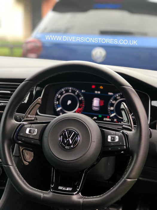 143 - Volkswagen Golf / Polo / Scirocco DSG Carbon Fibre Paddle Shifter Extensions (2013-2019 Models) - Diversion Stores Car Parts And Modificaions