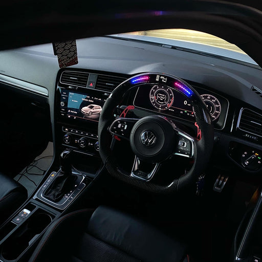 Volkswagen Golf MK7 / MK7.5 GTI / R LED Display Carbon Fibre Steering Wheel (LED CUSTOM / 2013 - 2020 Models)