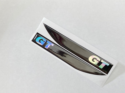 Volkswagen 'GT' Gel Side Repeater Badges - Oil Slick / Black