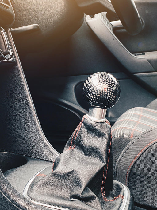 Volkswagen Polo MK5 6C / 6R Carbon Fibre Weighted Gear Knob In Black