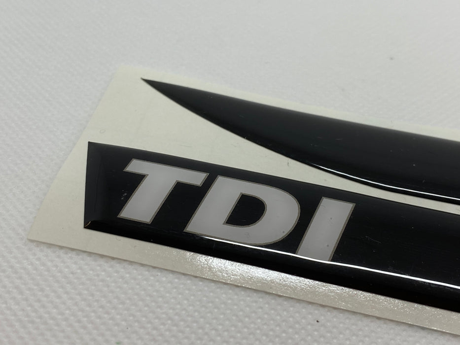 Volkswagen Style 'TDI' White / Black Side Repeater Gel Badges