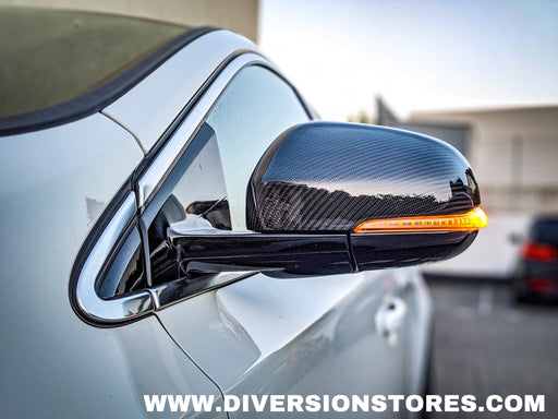 Carbon Fiber Tape-on Mirror Covers for 2009-2013 Volvo XC60 2010 2011 2012