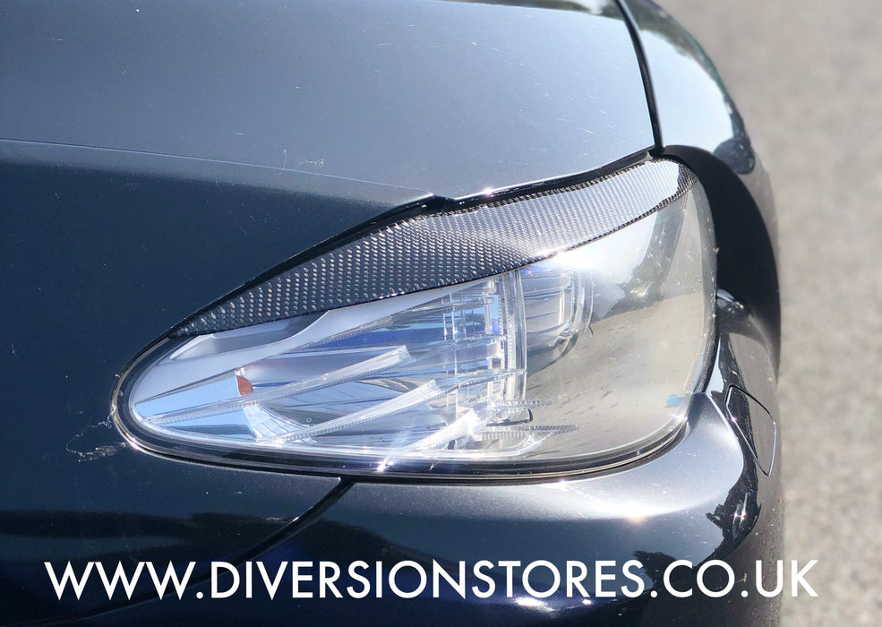 152 - BMW 5 Series Carbon Fibre Eyebrows (2011-2014 Models) 2PCS - Diversion Stores Car Parts And Modificaions
