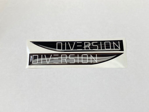 Volkswagen Style 'DIVERSION' White / Black Side Repeater Gel Badges
