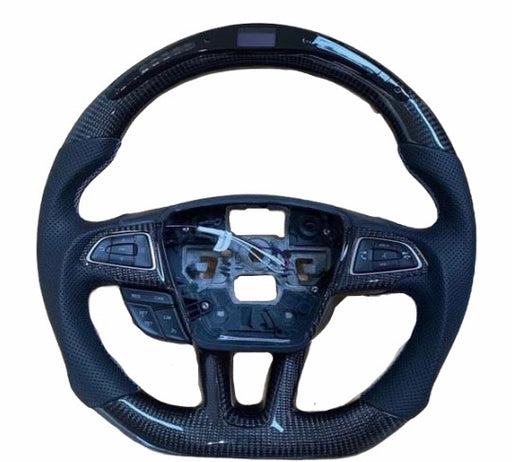 Ford Focus MK3.5 Base / ST / RS LED Display Carbon Fibre Steering Wheel (Custom 2014 - 2018)