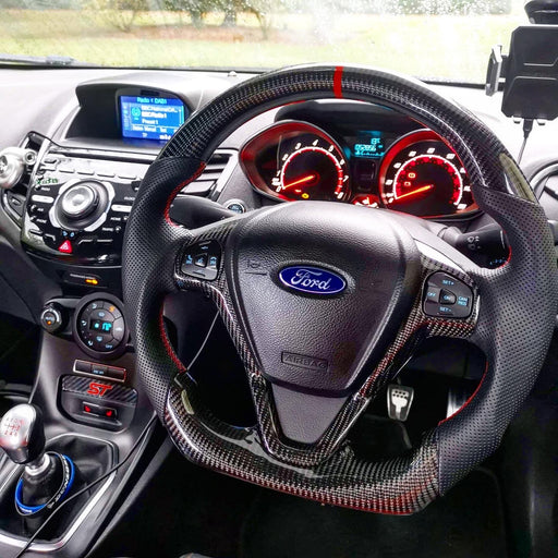 Ford Fiesta Carbon Fibre Custom Steering Wheel (MK7 / MK7.5 - 2009 to 2017)