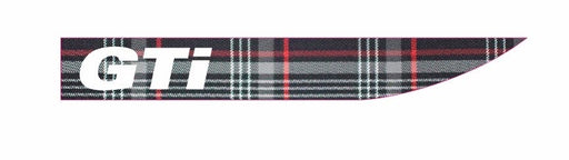 Volkswagen 'GTI' Tartan / White Side Repeater Gel Badges (PAIR)
