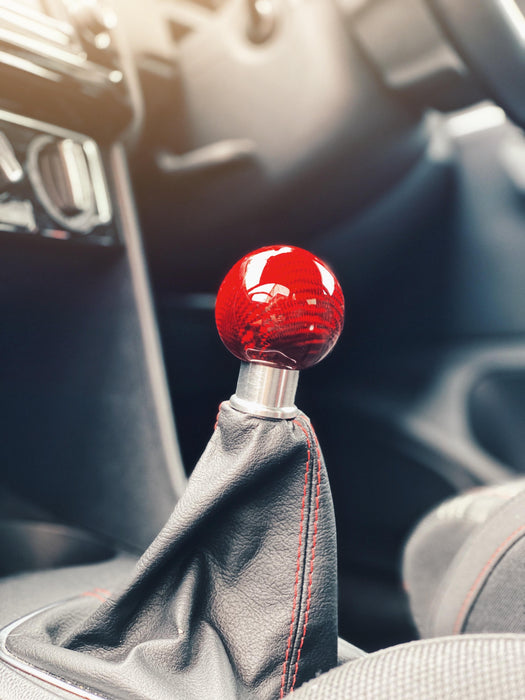 Volkswagen Polo MK5 6C / 6R Carbon Fibre Weighted Gear Knob In Red
