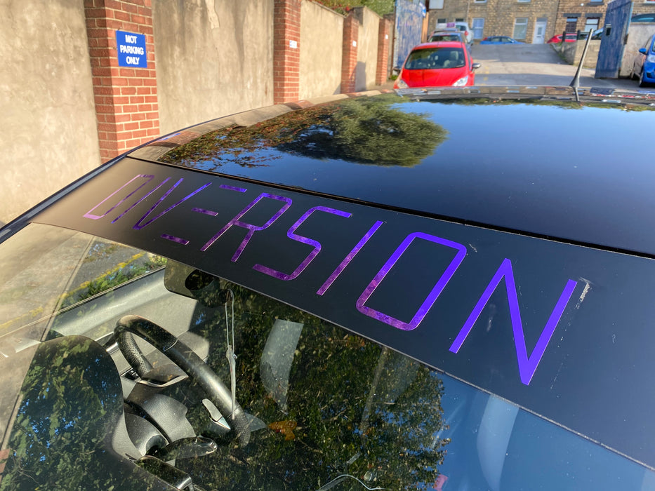 DIVERSION Sun Strip / Window Banner (Purple)