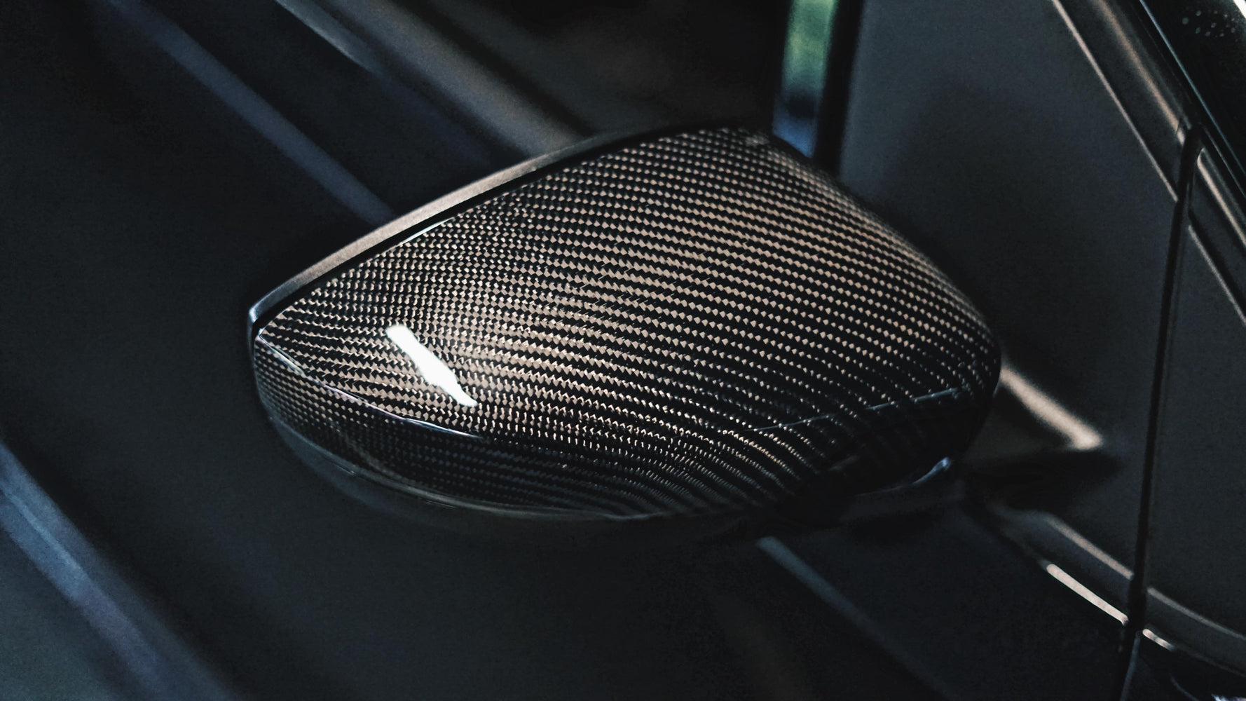 Volkswagen VW Polo Genuine Carbon Fibre Replacement Wing Mirror Covers MK5 6C / 6R (2009-2017 Models)