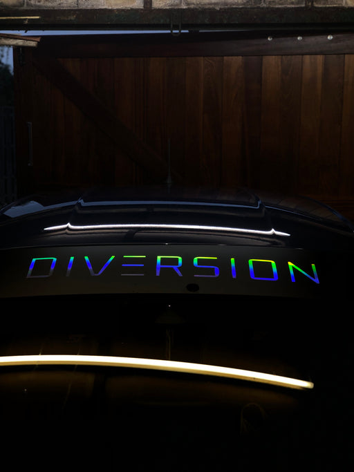 DIVERSION Sun Strip / Window Banner (OIL SLICK/MULTICOLOURED) - Diversion Stores Car Parts And Modificaions