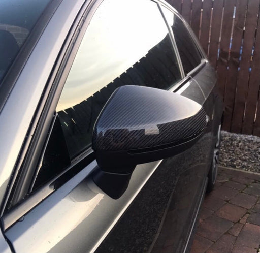Audi A3 / S3 / RS3 8V Genuine Carbon Fibre Mirror Replacement Covers (2013 - 2020)