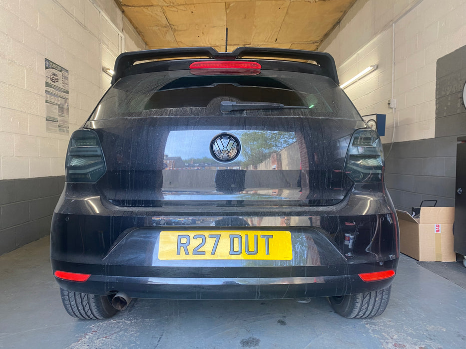 Volkswagen Polo MK5 6R / 6C Gloss Black Front And Rear Badges (2009 - 2017 Models)