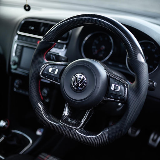 Volkswagen Polo MK5 6C GTI / R-line Carbon Fibre Steering Wheel (CUSTOM / 2014 - 2017 Models)
