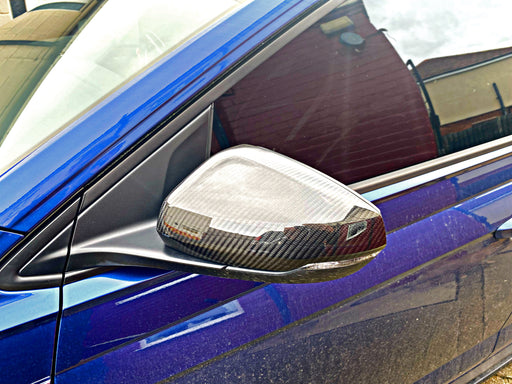 Volkswagen Polo AW / MK6 Genuine Dry Carbon Fibre Add On Style Mirror Covers (2018+ Models)