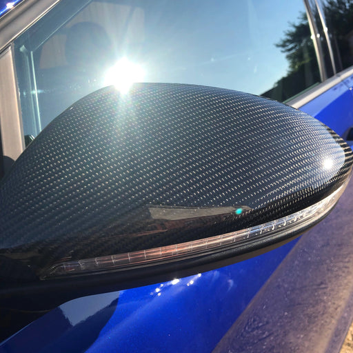 132 - Volkswagen VW Golf MK7/7.5 Genuine Carbon Fibre Wing Mirror Caps - Diversion Stores Car Parts And Modificaions