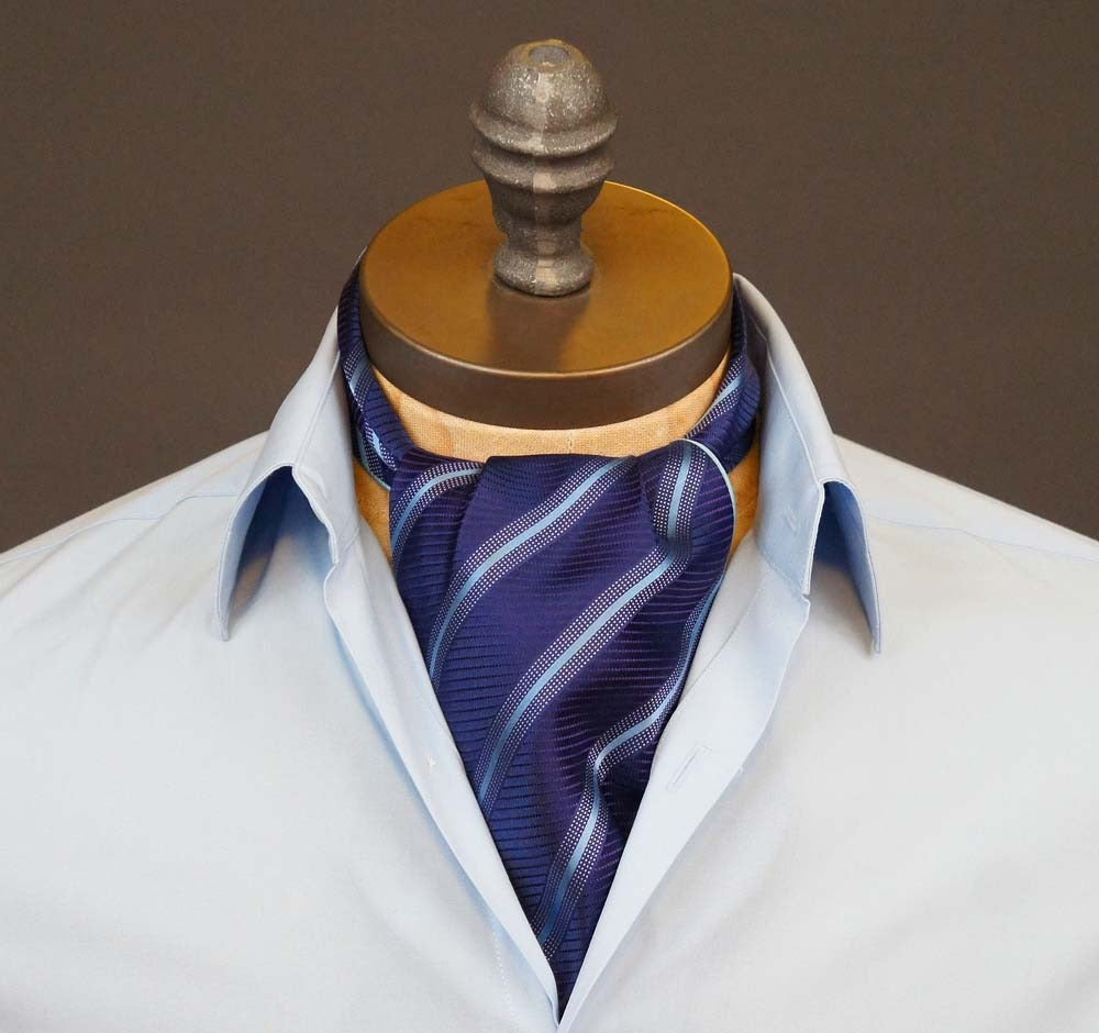 Purple Stripe Ascot