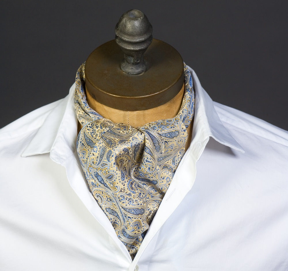 Baby Blue Paisley Ascot