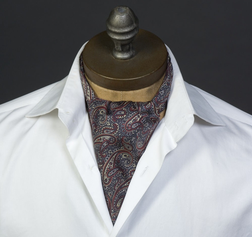Pewter Paisley Ascot