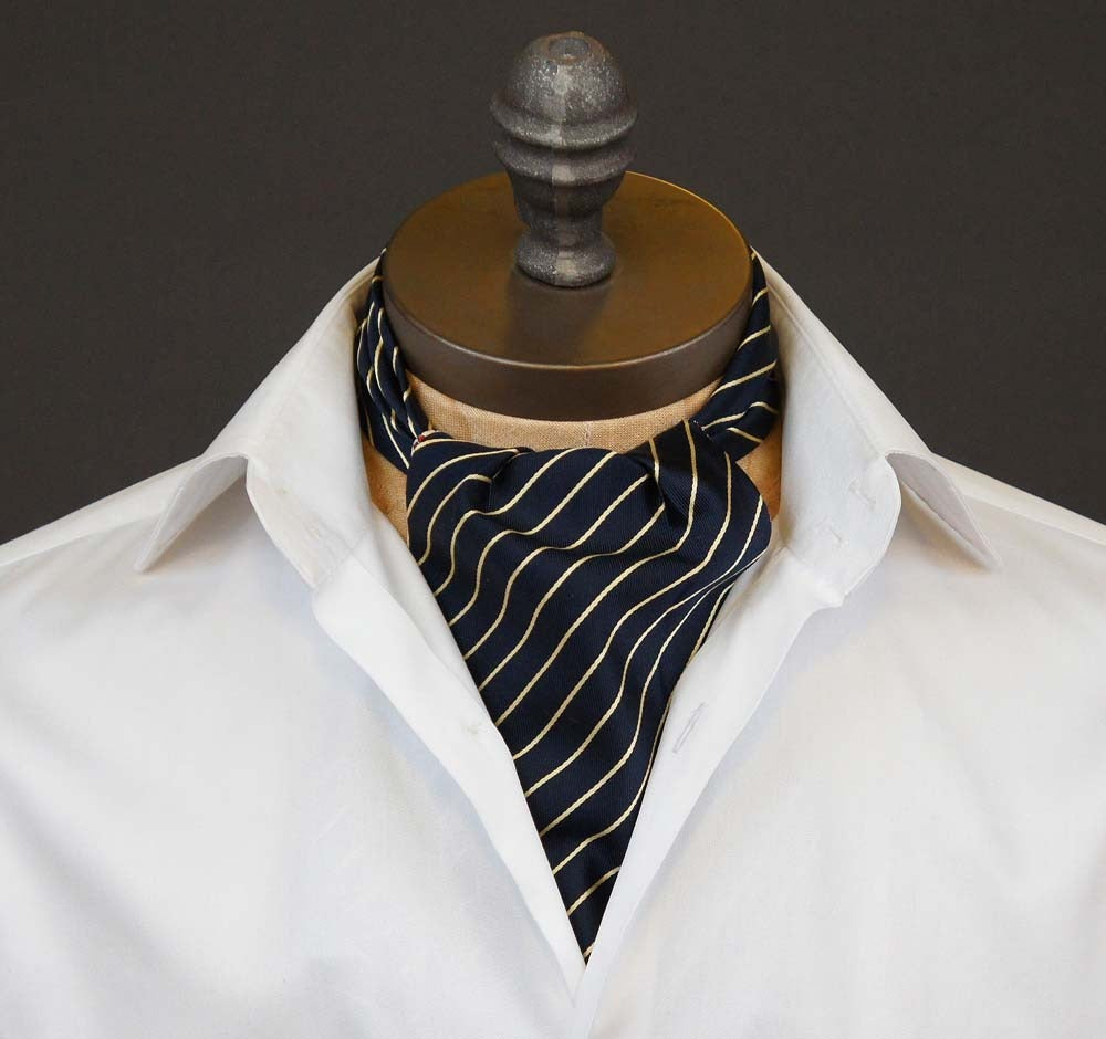 Gold and Blue Ascot