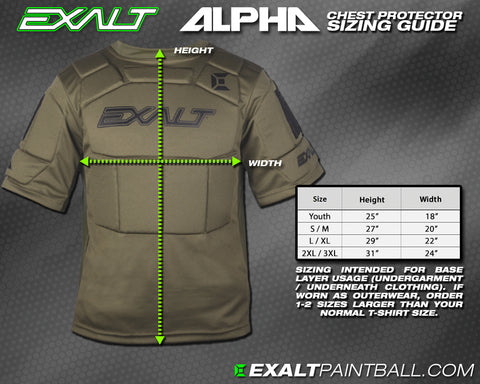 Exalt Paintball Chest Protector Chest Protector