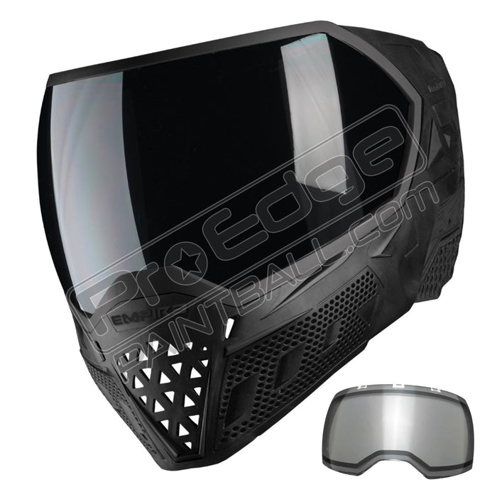 Empire EVS Paintball Mask-Black-Black with 2 Lenses