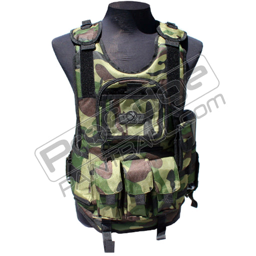Gen X Global Tactical Vest Paintball Harness - Woodland Camo