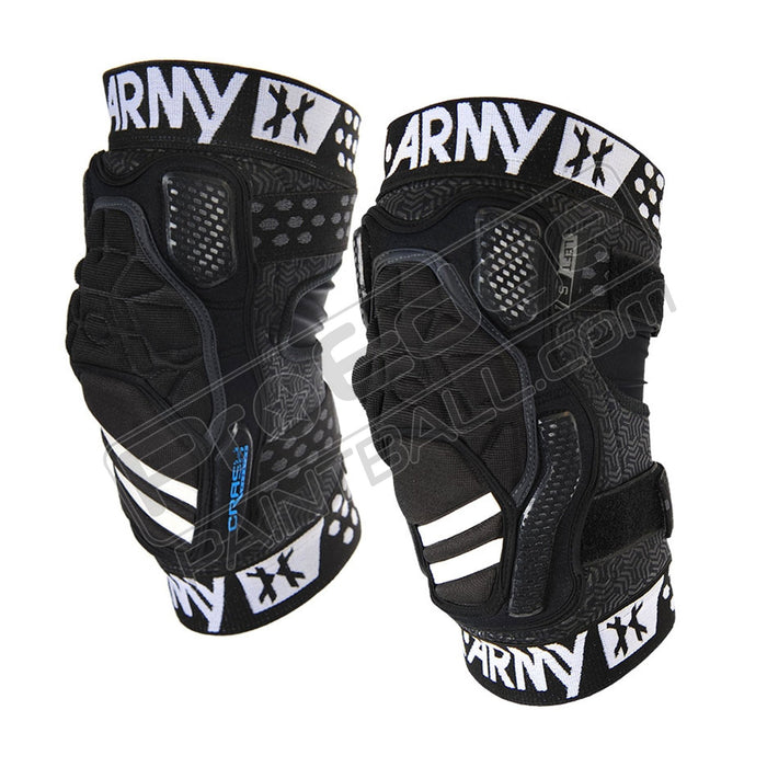 HK ARMY CRASH CTX PAINTBALL KNEE PADS - BLACK/BLACK