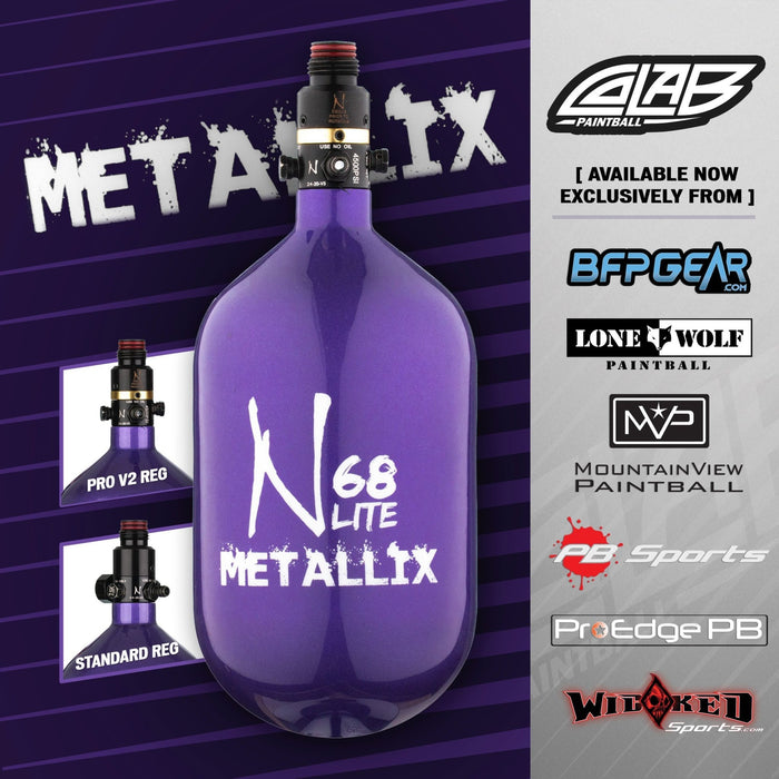 Ninja Lite Carbon Fiber Tank- 68/4500-Purple Metallix Standard Regulator