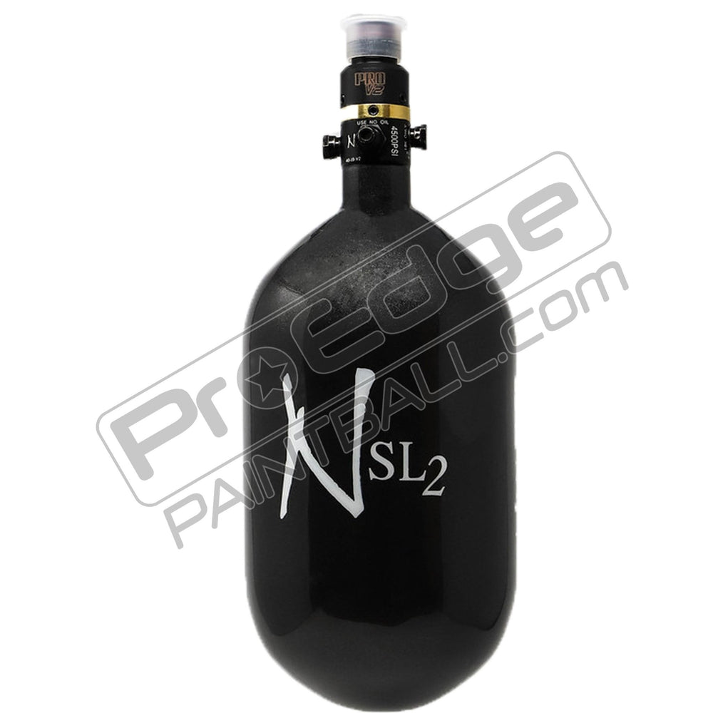 Ninja SL2 Carbon Fiber Air Tank With Pro V2 Regulator-68-4500-Gun-Smoke White