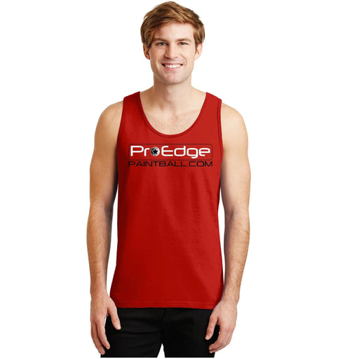 Pro Edge Logo // Tank Top Red