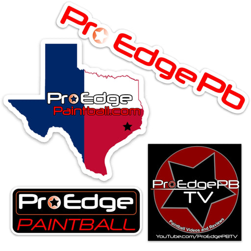 Pro Edge Paintball Sticker Pack of 4 - 1 FREE PACK PER CUSTOMER