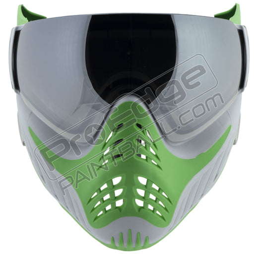 V-Force Profiler Paintball Mask - SC Spearmint - Silver / Lime - Thermal Quicksilver