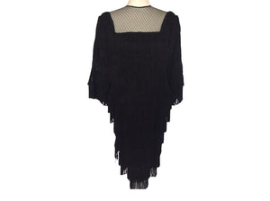 Vintage Custom - Black Flapper Style Dress