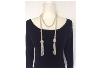 Vintage Pearl Tassel - Necklace Belt