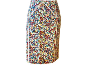 Versace Floral - Pencil Skirt