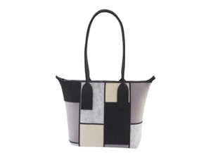 Colorblock Wool - Felt Tote