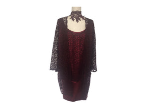 Vintage Custom - Burgundy Lace Evening Suit