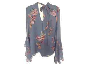 Keepsake Blue - Floral Blouse